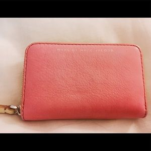 Marc by Marc Jacobs pink and green zip up wallet